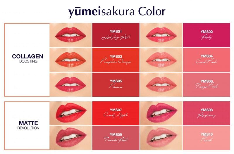 các màu son thời thượng từ yumeisakura